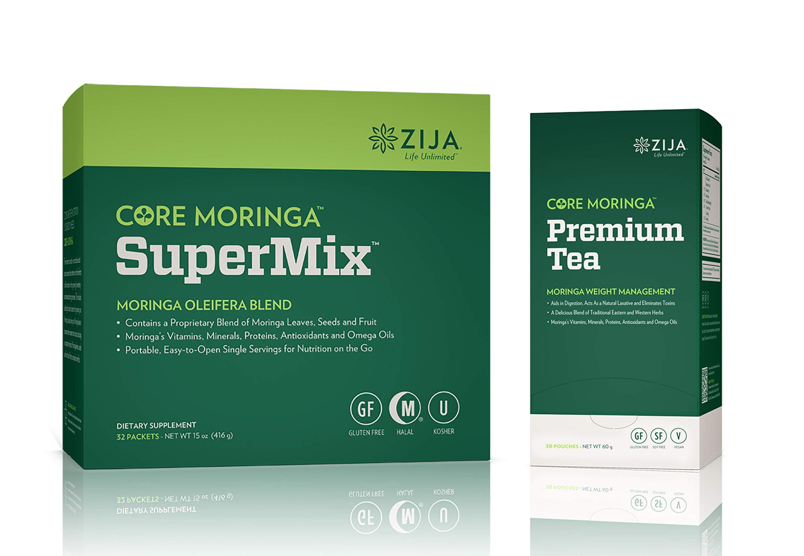 Zija Supermix Pure Moringa & Premium Tea Instant