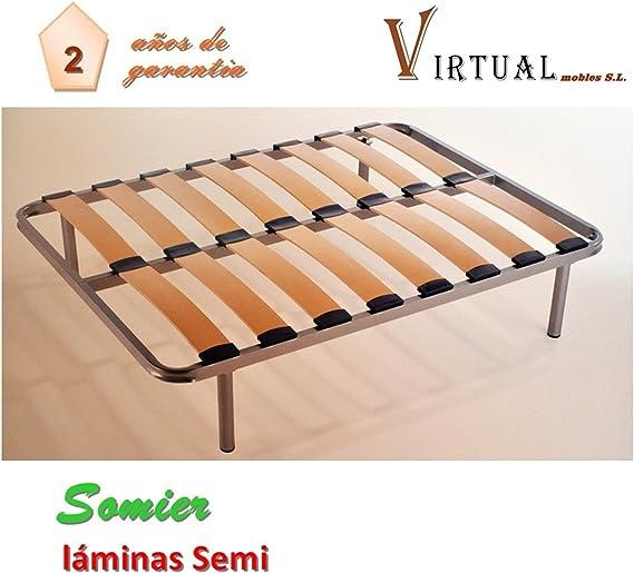 VIRTUALMOBLES SOMIER Lamina Semi 90X190 SIN Patas: Amazon.es ...