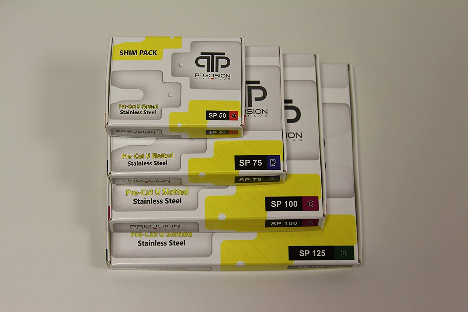 0.1 mm thickness 100 x 100 mm, 10 pieces per pack Pre Cut Shim Size C