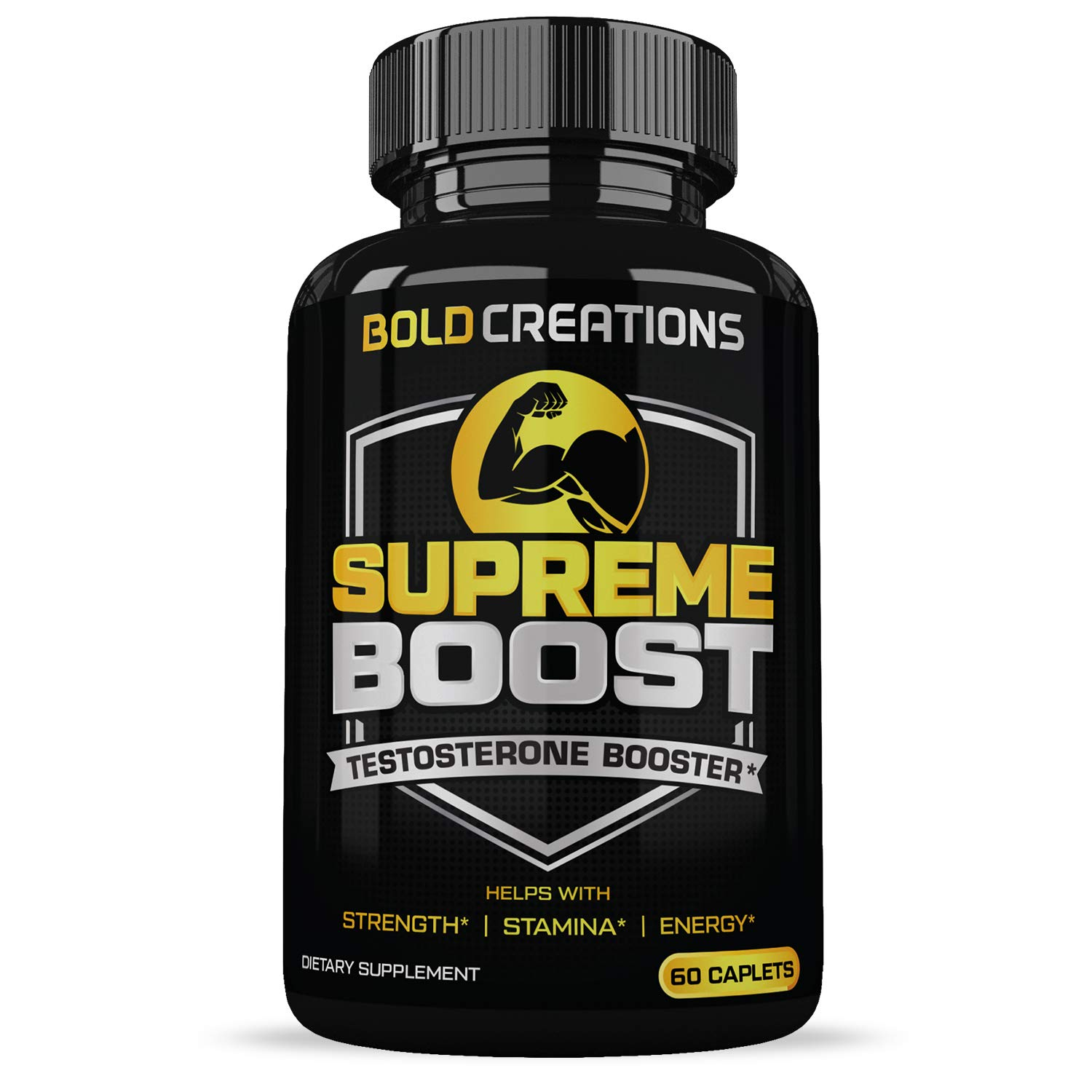Men's Extra Strength Testosterone Booster (60 Caplets) Natural Stamina,Strength & Energy Booster Builds Lean Muscle  Increased Performance  Quicker Recovery  Supports Fat Burning & Healthy Weight Loss