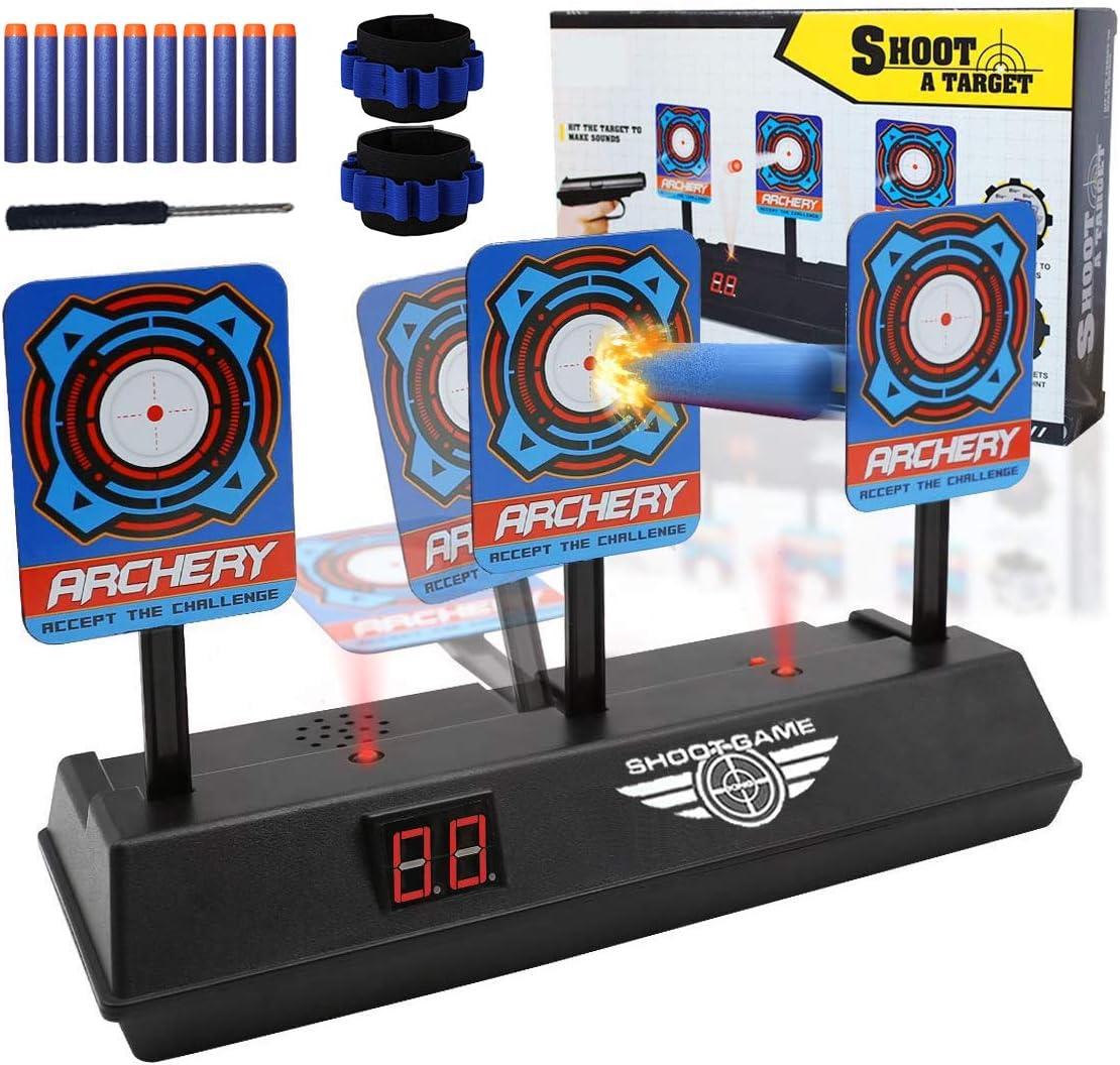 DDYX2020 Objetivo Digital Electrónico para Pistolas Nerf con Restablecimiento Automático, Efectos Inteligentes de Sonido y Luz, para Nerf N-Strike Elite/Mega/Rival Series (Solo Objetivo)
