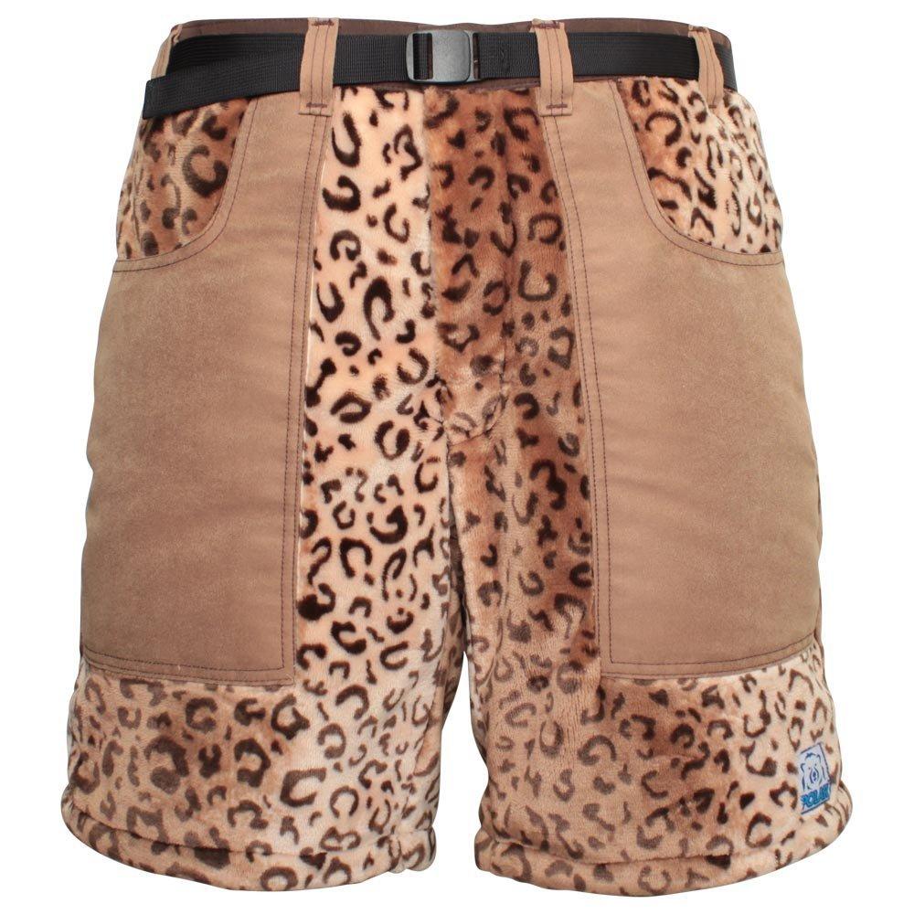 Polar Shorts Fleece Shorts For Cool Weather (Leopard 32)