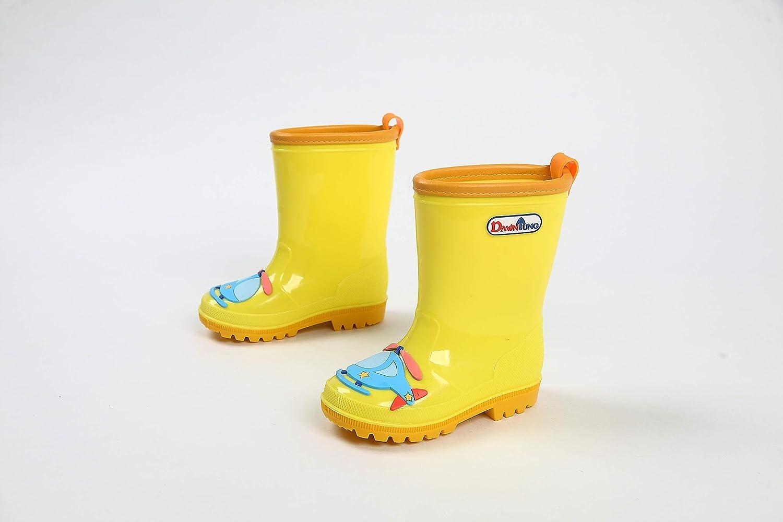 kouyang Boys Girls Rain Boots PVC rain Boots for Boys