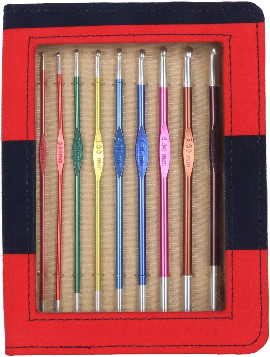 Knitters Pride KP140306 Zing Single Ended Crochet Hook Set - Size 2 mm to J-6 mm