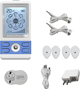2nd Edition BM8ML Blue Powerful Electrotherapy Pain Relief TENS Unit EMS Unit Machines Electric Electronic Pulse Massager Sciatic Back Neck Shoulder Knee Legs Pain Management HealthmateForever