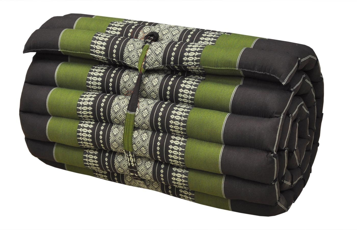 Noinoi@roll up Thai Mattress Kapok (small, Green-Brown) by NOINOI