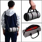 For JBL Pulse 2 JBL Charge3 Logitechue Megaboom Speaker Wireless Bluetooth Portable Hard Carrying Case Travel Bag (Gray Bag)