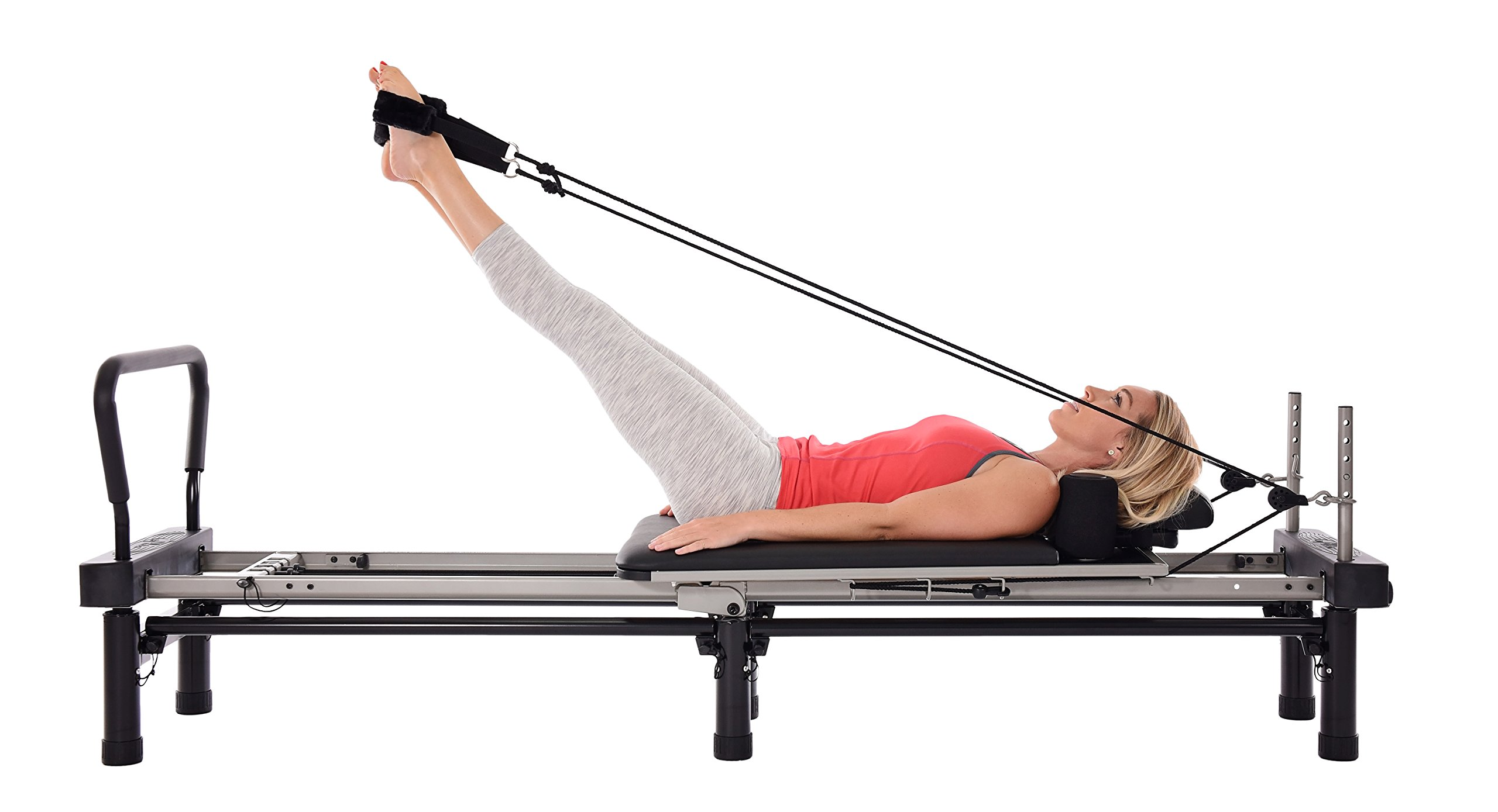 Stamina AeroPilates 700 Premier Reformer with Stand, Cardio Rebounder, Neck Pillow and DVDs by Stamina (Image #3)