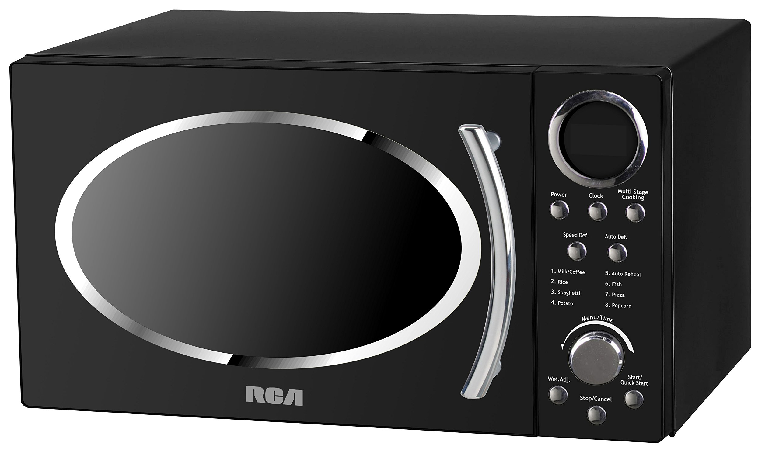RCA RMW987-BLACK 0.9 cu. ft. Retro Microwave, Black