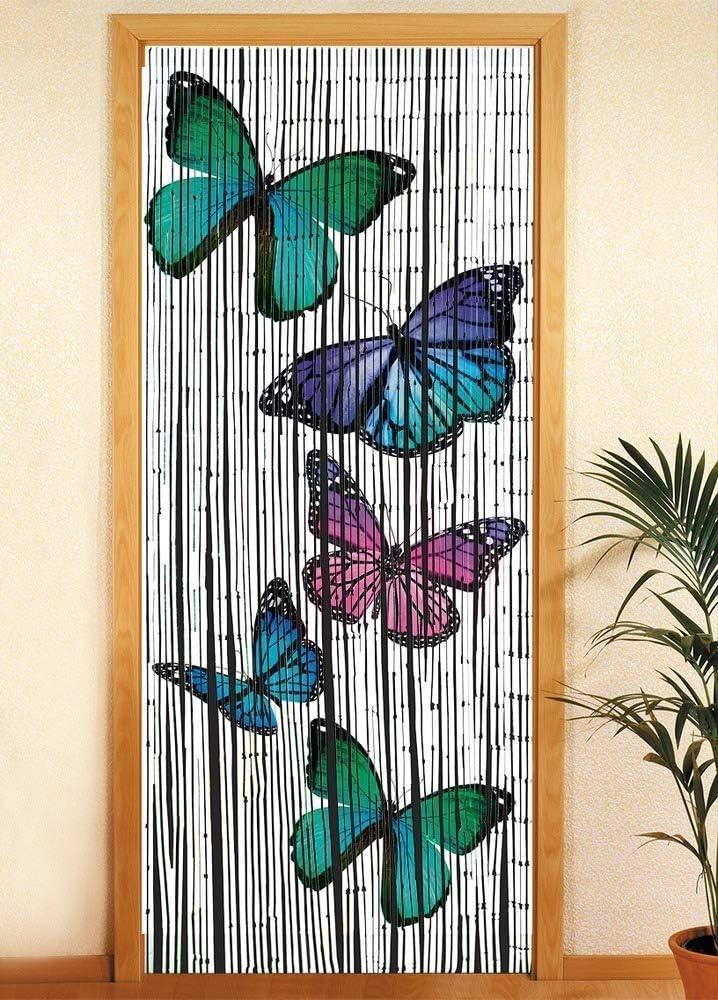 WENKO Bambusvorhang Schmetterlinge