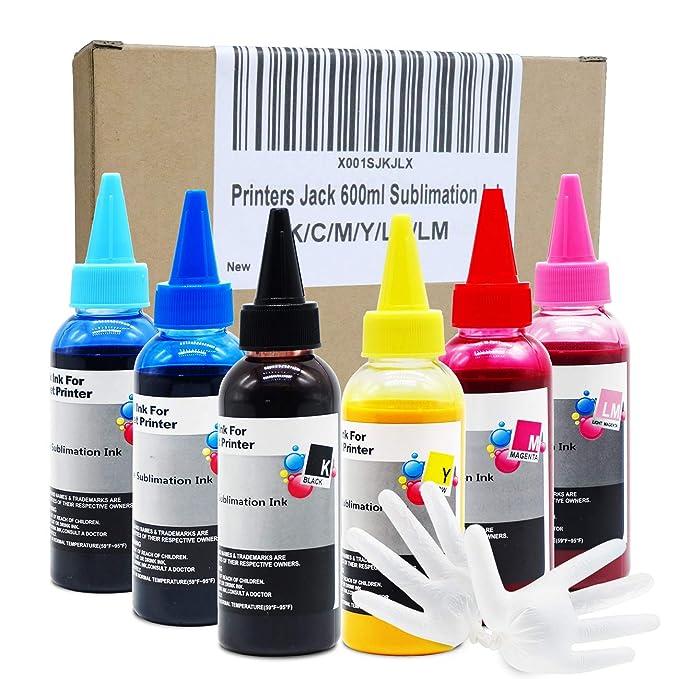 Amazon.com: Impresoras Jack 600 ml tinta de sublimación para ...