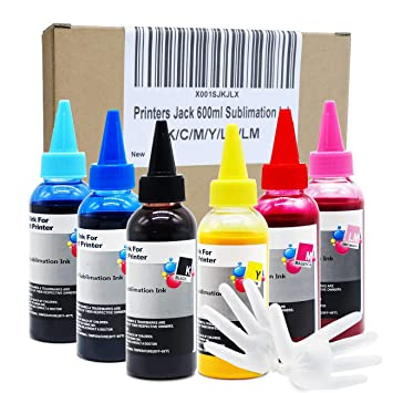 Amazon.com: Impresoras Jack 600 ml tinta de sublimación para ...