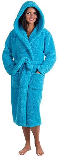 17d0fdc280 Livingston Women s Luxuriously Plush Cozy Collared Bath Robe w Pockets. Buy  from Amazon.com