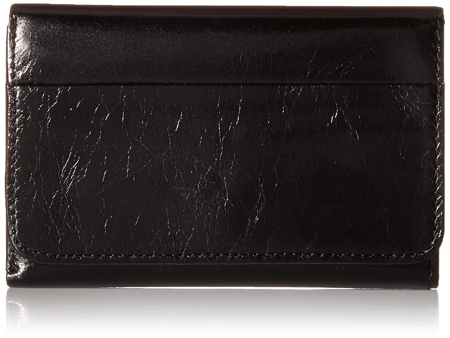 HOBO Vintage Jill Tri-Fold Wallet,Black,One Size