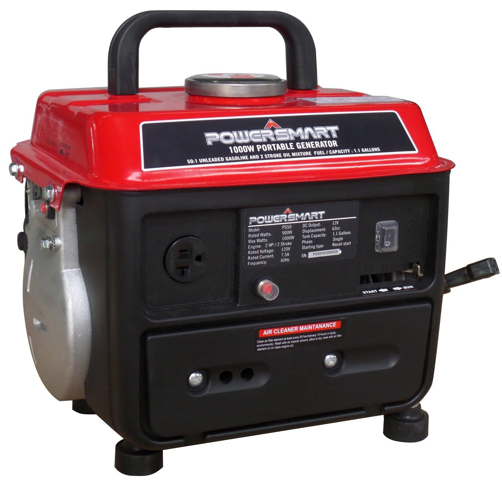 PowerSmart PS50 Portable Generator, Red/Black