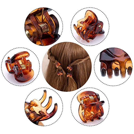 V5Y6 3Sizes Womens Girls Leopard Hair Clip Claw Hair Accessory Clamp Headpiece