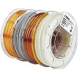 AMOLEN 3D Printer Filament Bundle,PLA Filament 1.75mm Bundle,Marble Filament,Glow in The Dark Filament,Silk PLA Gold and Copp