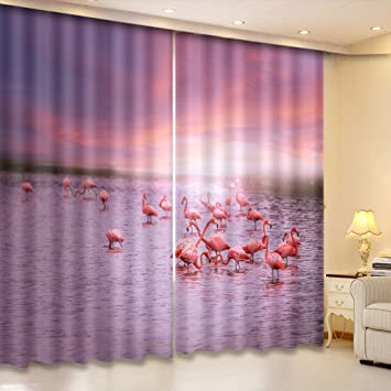 Amazon.com: LB 2 Panels Room Darkening Thermal Insulated Blackout ...