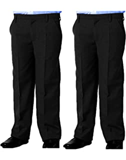 Integriti Schoolwear Boys Plus Fit School Trousers Black Grey Navy Sturdy Fit Comfort Fit Age 4-13 Years