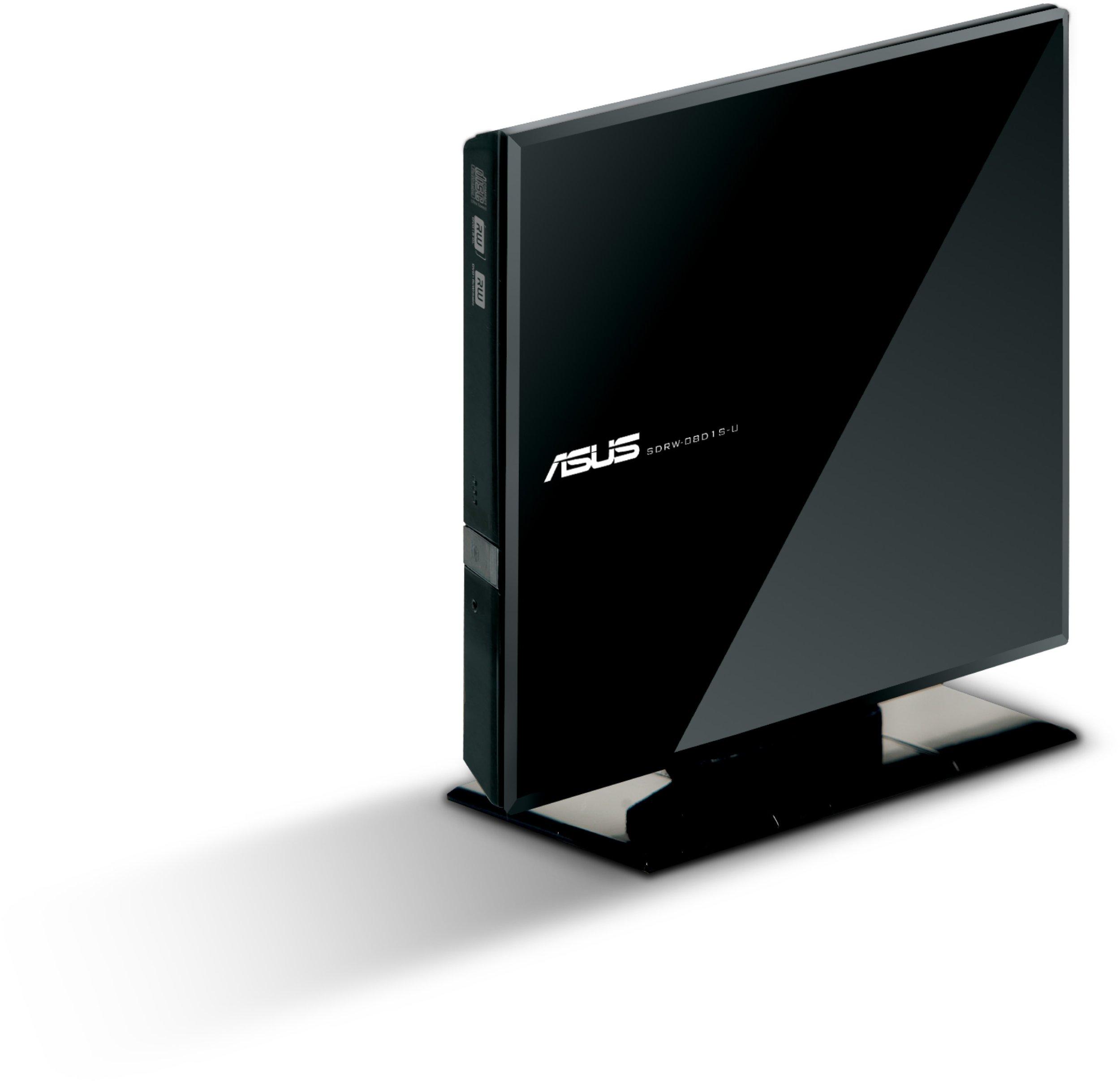 ASUS USB 2.0 8xDVD Writer External Optical Drive SDRW-08D1S-U (Black)