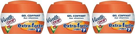 Vivelle Dop - Juego de 3 geles para el cabello, con vitaminas, fijación extrafuerte