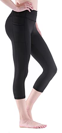 6063e24f07f4d Sudawave Women's Workout Leggings with Pocket Running Active Tights Yoga  Pants (Small, Black(