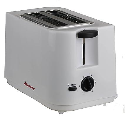 Butterfly BSTE17-18 700-Watt 2 Slice Toaster (White)