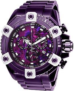 7080caf1f INVICTA Reserve Men 56mm Stainless Steel Purple Purple dial Z60 Quartz
