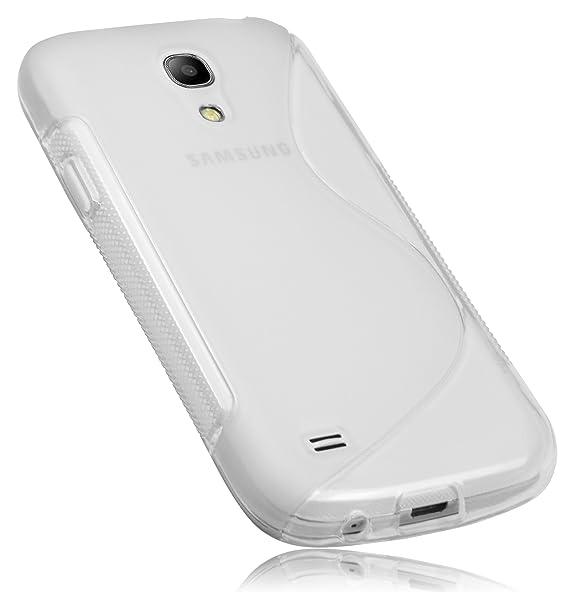 mumbi S-TPU Schutzhülle für Samsung Galaxy S4 mini Hülle transparent weiss