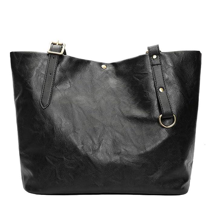 39e9111c3246 KIMODO women s Bag Handbag Backpack Fashion Retro Soft Leather Shoulder Bag  Tote Bag  Amazon.co.uk  Shoes   Bags