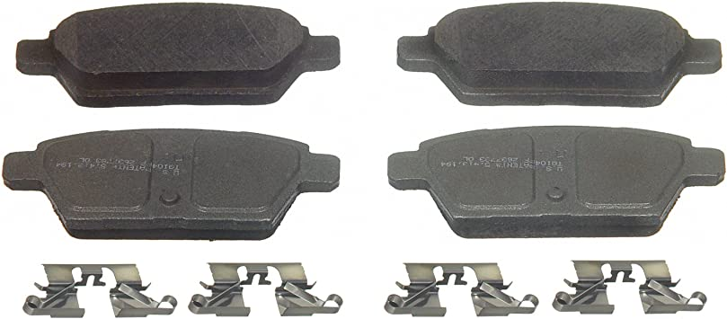 Wagner QuickStop ZD1161 Ceramic Disc Pad Set Includes Pad Installation Hardware Rear Wagner Brake