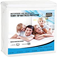 Premium Hypoallergenic Waterproof Mattress Protector - Fitted Mattress Cover - Utopia Bedding