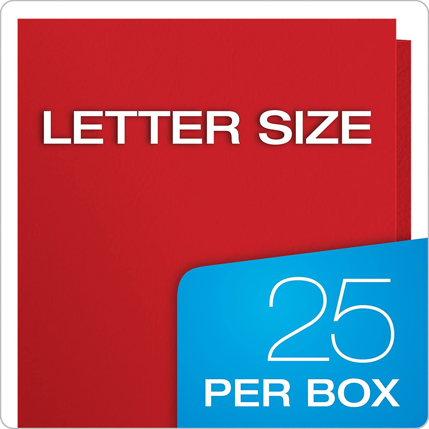 Assorted Colors 1 57513 25 per Box Oxford Two-Pocket Folders Letter Size