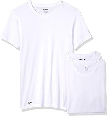 Lacoste Men's Slim Fit Cotton Crew Neck Tee, 3 Pk