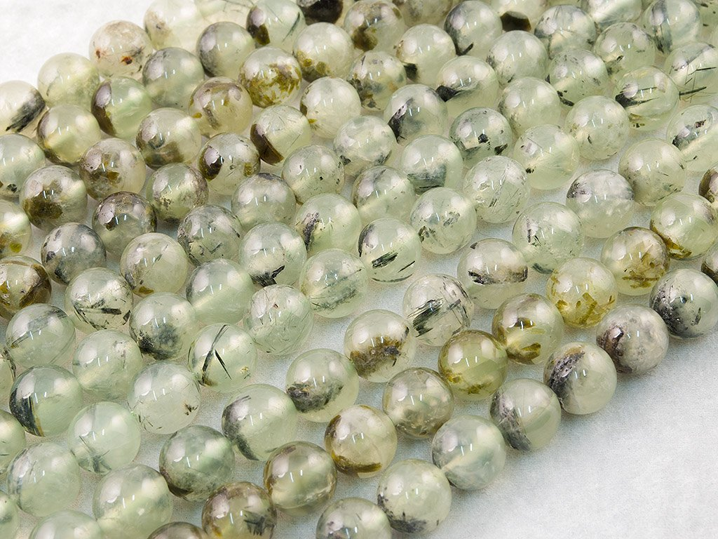 Ronde Perle en Pierre Semi-pr/écieuse Naturel Prehnite, Genuine, Natural, Plain Round Semi-Precious Gemstone Bead DIY 4mm V/éritable Environ 40cm Un Fil. Beads Ok Prehnite