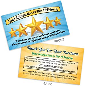 Thank You for Your Purchase - Feedback Request Cards for online sellers - Box of 100