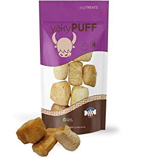 yakySnack Puff Himalaya Cheese Treats | Lactose free | Glutem Free | Grain free | Made in USA | For All Breeds | Original Cheese Flavor