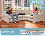 "Intex Inflatable Corner Sofa, 101"" X 80"" X"