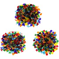 freneci 480g Glass Mosaic Stones for Mosaic Crafts for Walls Decoration DIY Craft