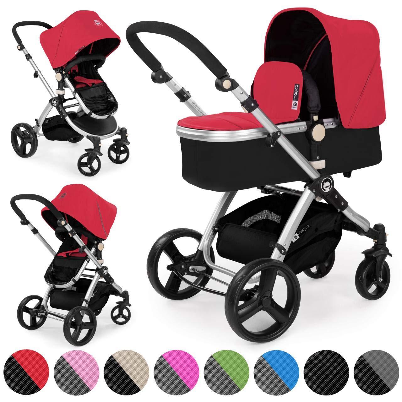 Froggy passeggino carrozzina combi MAGICA 2 in1 passeggino rosso in alluminio product image