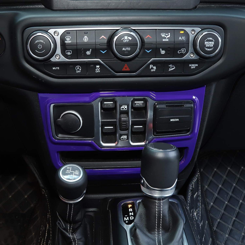 Purple RT-TCZ Window Control Panel Trim Cover Interior Decoration Accessories for 2018 2019 2020 Jeep Wrangler JL JLU