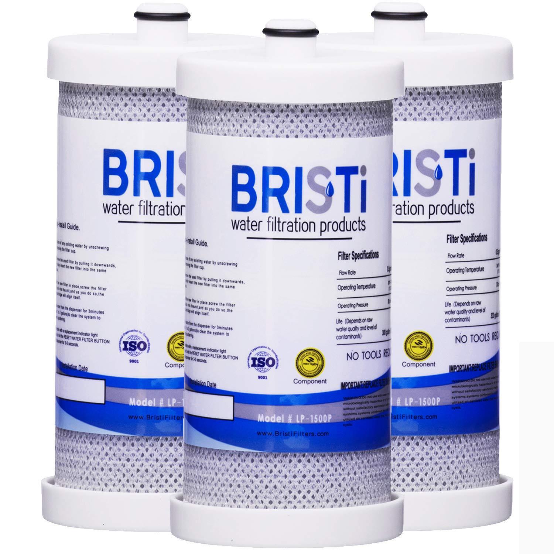 Bristi WF1CB Refrigerator Water Filter Replacement And Fits WFCB, RG 100, NGRG2000, RF-100, RG100, NGRG-2000, 9910, 46-9910 (3 Pack)