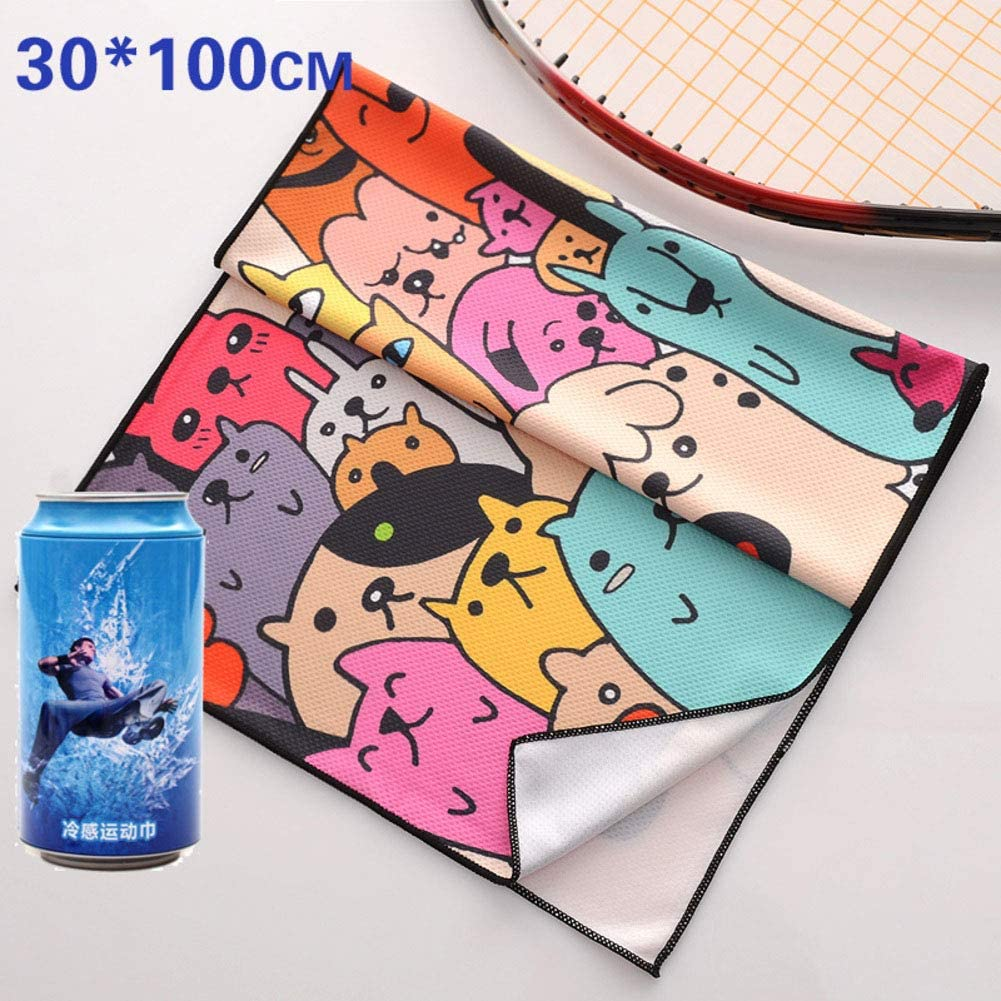 YUMUO Sport Cooling Towel,Outdoor Towel Microfiber Towel Breathable Chilly Neck Instant Cooling for Fitness Gym Yoga Running Marathon -g