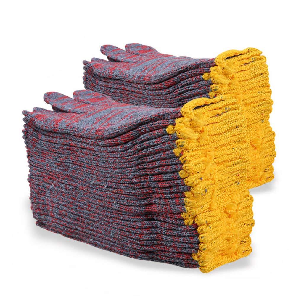 YIWANGO Arbeitsplatzhandschuhe Schnittschutzhandschuhe Hochleistungsschutz Der Stufe 5Sicherheits-Küchenhandschuhe (24 Paare),ROT-OneGröße