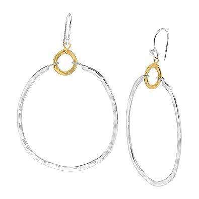 b45f42181 Amazon.com: Silpada 'Dynamic Duo' Double Circle Drop Earrings in Sterling  Silver & Brass: Jewelry