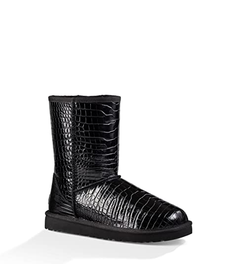 2c9af5d16b4 UGG Women's Classic Short Croco Black Boot 10 B (M): Amazon.ca ...