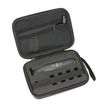 9651782bb4c9 Amazon.com  co2crea Hard Travel Case for Philips Norelco OneBlade QP2520 90    QP2630 70   QP2520 72 Face Body hybrid electric trimmer shaver (Black Case  ...