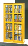 Leslie Dame Mission Multimedia DVD/CD Storage Cabinet with Sliding Glass Doors, Oak