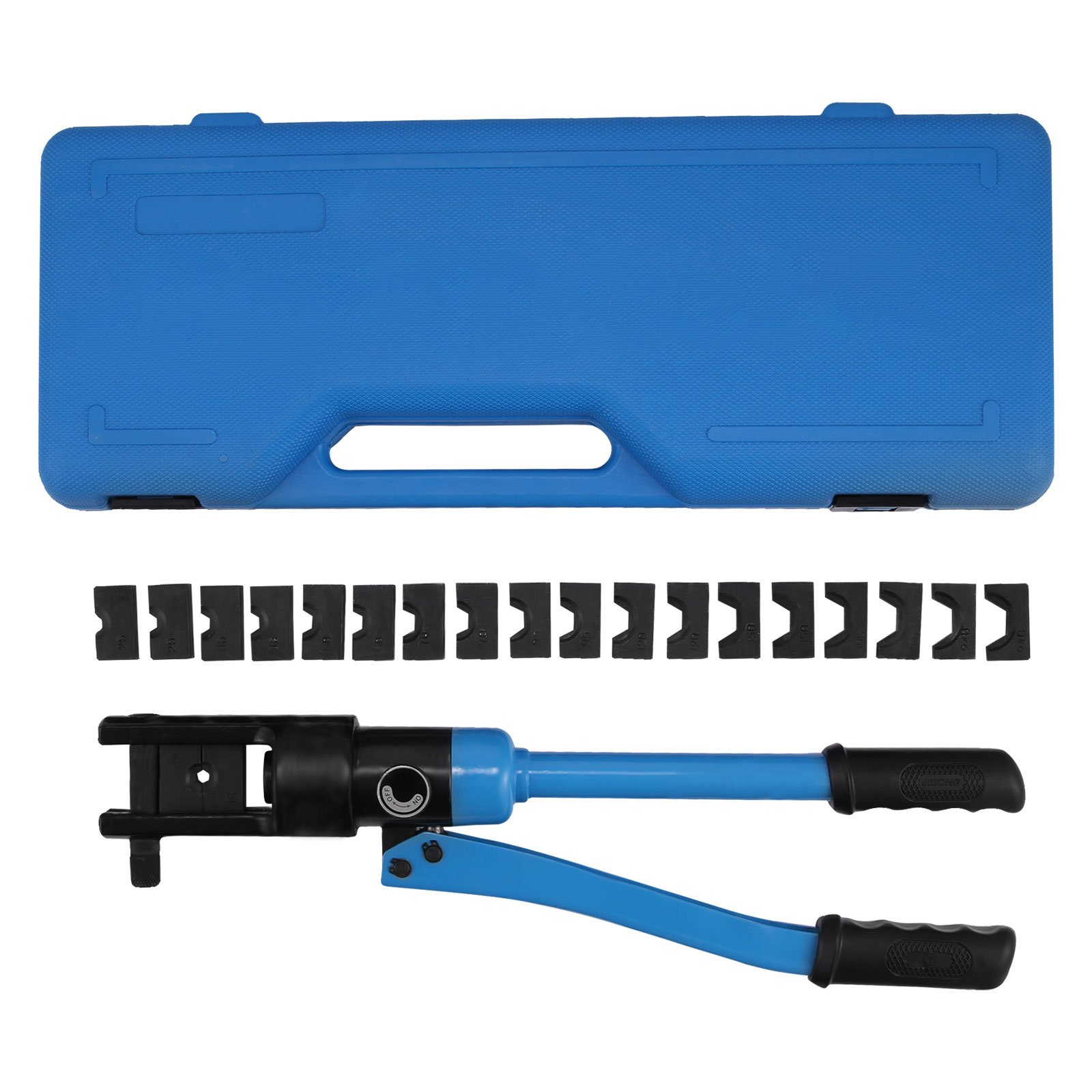 TOTOOL Hydraulic Wire Terminal Crimper Battery Cable Lug Crimping Tool 12 TON Hydraulic Lug Tool 6 AWG to 500 MCM Electrical Crimping Tool 10 Dies (12T 10Dies)