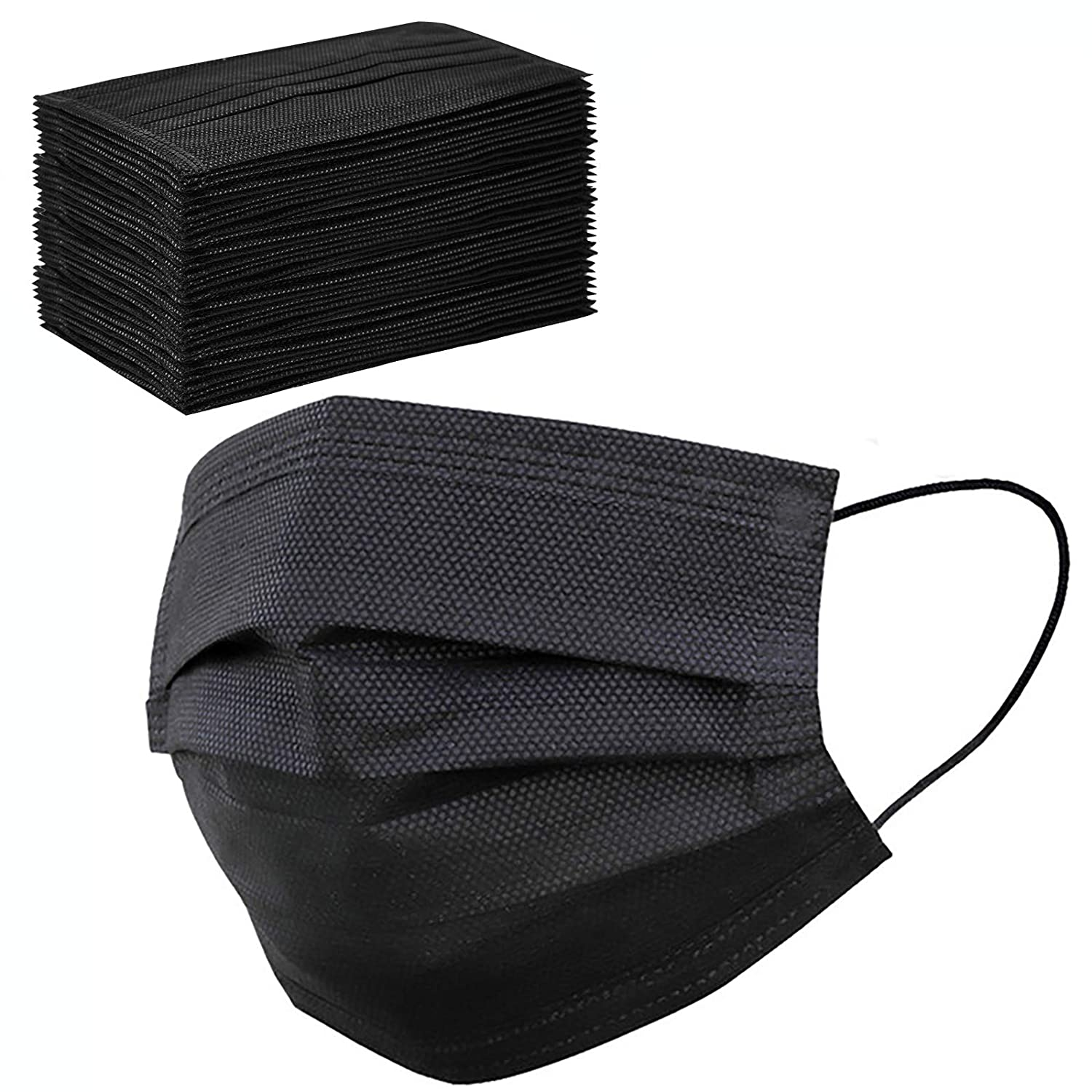 OBBO Black Disposable Face mask Adult KF94 face mask 4 Layers Non-Woven Protective Face Covering 20PC